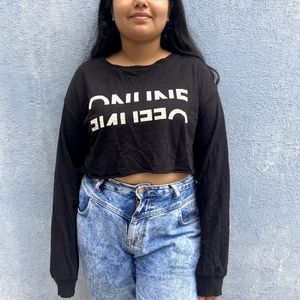 H and M Cropped Sweater